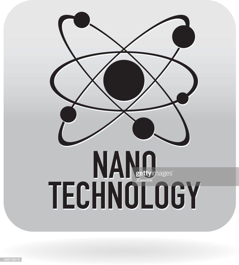 Nano atomic technology icon