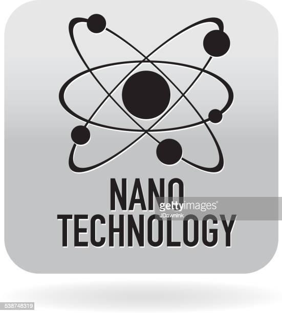 nano atomic technology icon - nanotechnology stock illustrations, clip art, cartoons, & icons