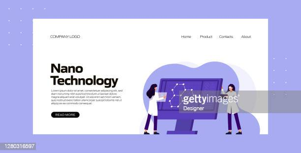 nano technology concept vector illustration for website banner, advertisement and marketing material, online advertising, business presentation etc. - landing page stock illustrations