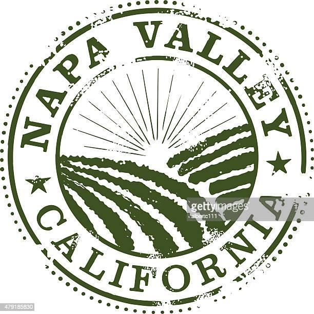 napa valley stamp - napa valley stock illustrations