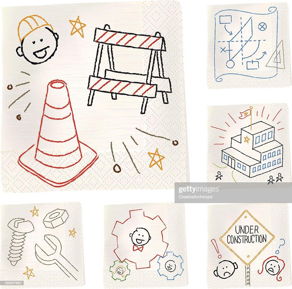 Napkin sketches - Construction
