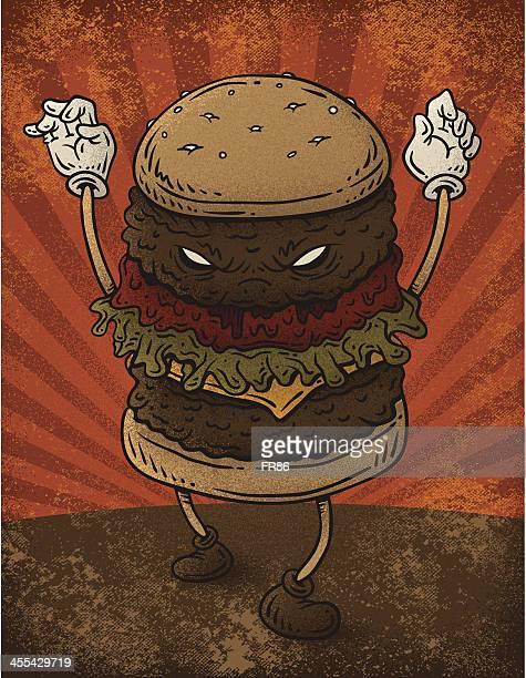ilustrações, clipart, desenhos animados e ícones de hambúrguer de nasty - hamburger