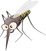 nasty cartoon mosquito