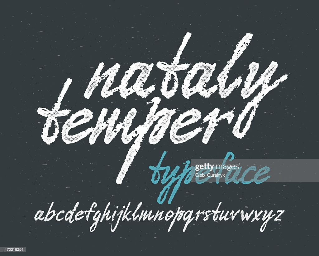 'Nataly temper' typeface.