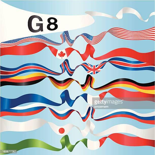 g8-banner - russische flagge stock-grafiken, -clipart, -cartoons und -symbole