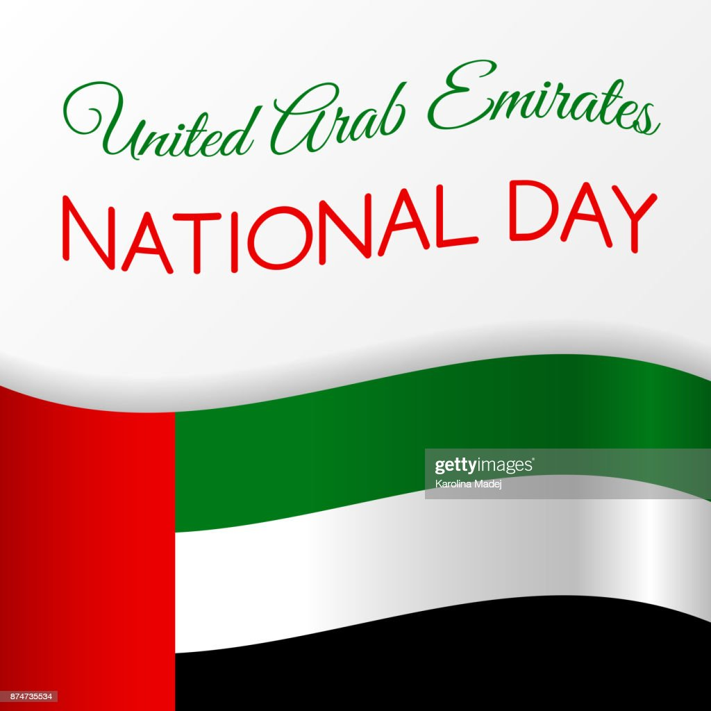 National day of uae card with greeting vector vector art getty images national day of uae card with greeting vector vector art m4hsunfo