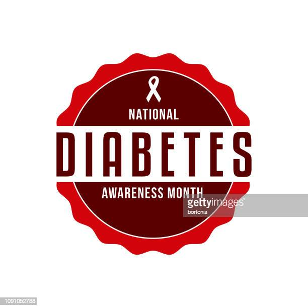 national diabetes awareness month - month stock illustrations