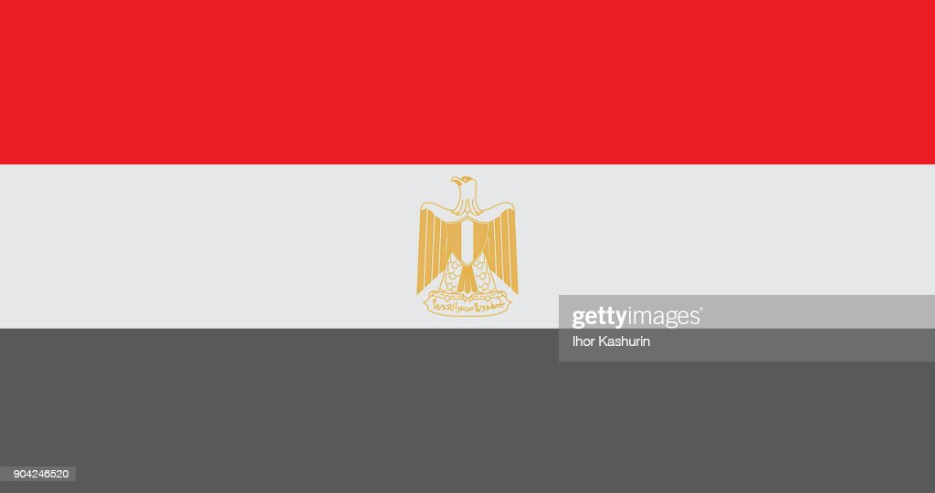 National Egypt Flag vector.Egypt Flag, official colors and proportion correctly. Egypt Flag vector illustration. Egypt Flag vector background.