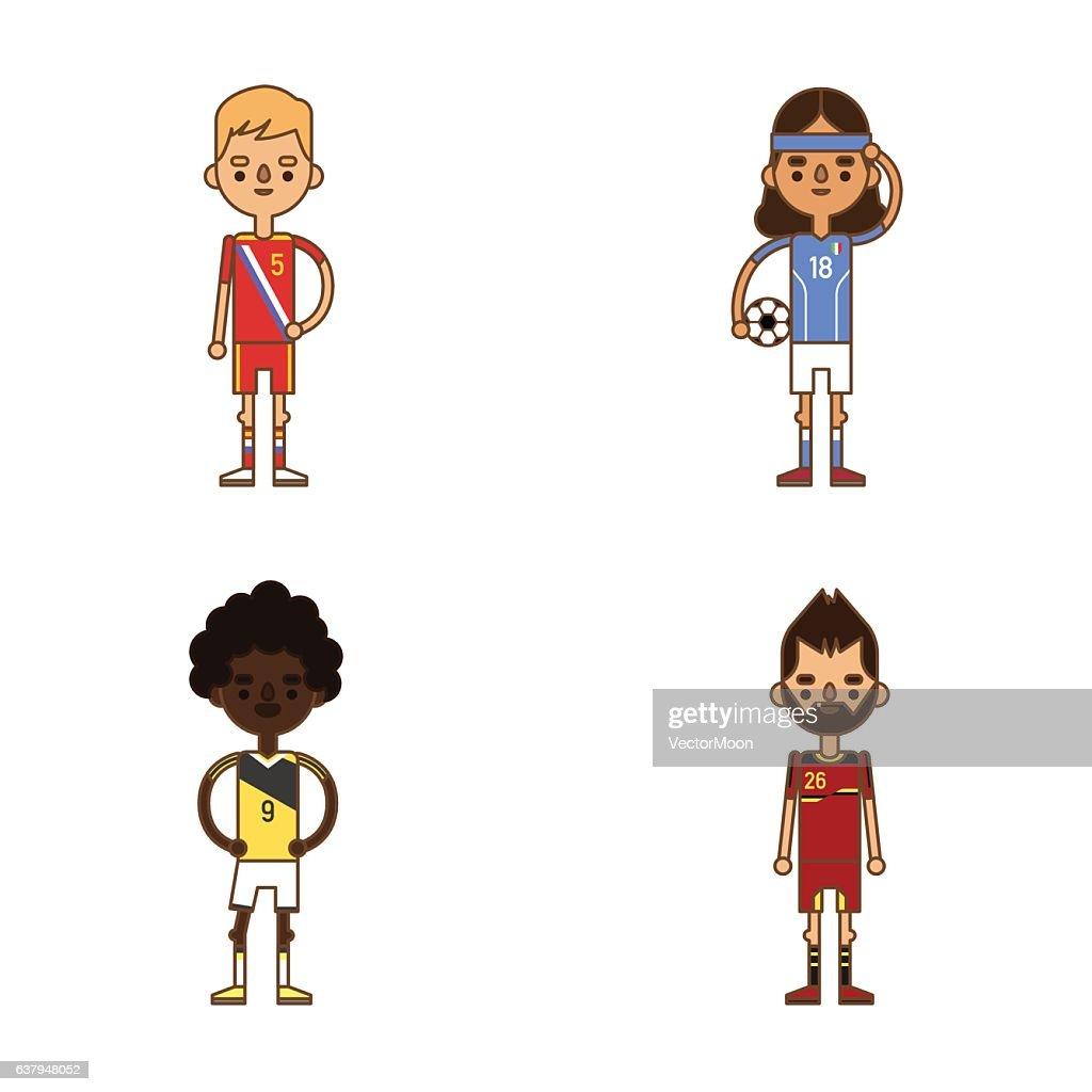 685154f67da National Euro Cup soccer football teams vector illustration : stock vector