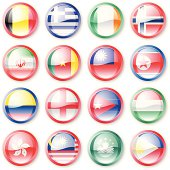 National Flag Buttons