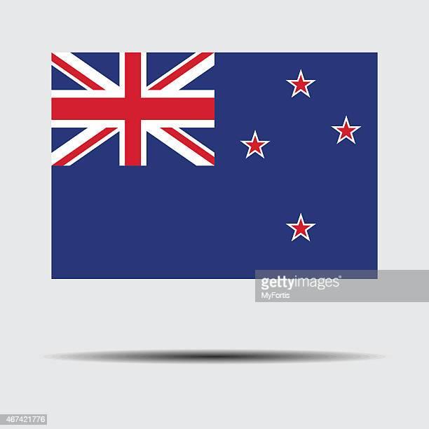 ilustraciones, imágenes clip art, dibujos animados e iconos de stock de bandera nacional de nueva zelanda - new zealand