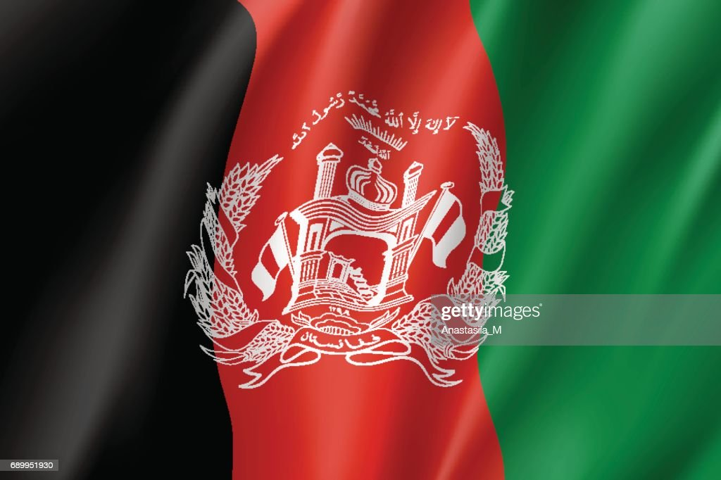 National flag of Afghanistan Republic.