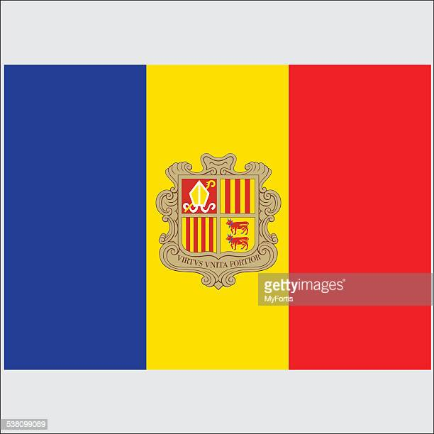 national flag of andorra - country geographic area stock illustrations, clip art, cartoons, & icons