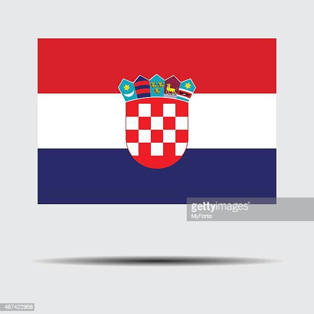 national flag of croatia - balkans stock illustrations, clip art, cartoons, & icons