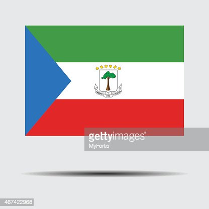 National Flag Of Equatorial Guinea Stock Illustration