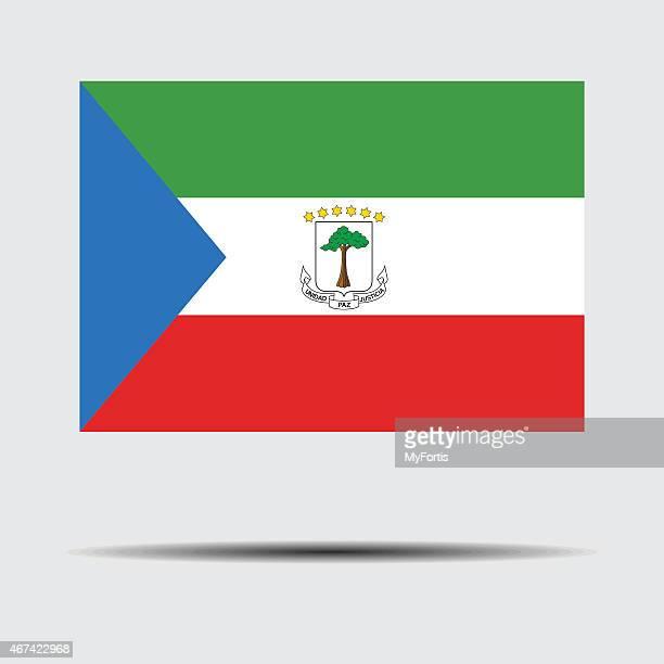 national flag of equatorial guinea - malabo stock illustrations