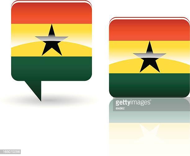 national flag of ghana - ghana stock illustrations, clip art, cartoons, & icons