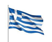 National flag of Greece country.
