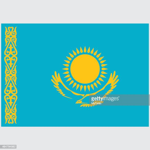 national flag of kazakhstan - kazakhstan stock illustrations