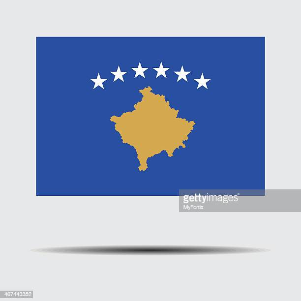 national flag of kosovo - country geographic area stock illustrations, clip art, cartoons, & icons