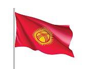 National flag of Kyrgyzstan Republic.