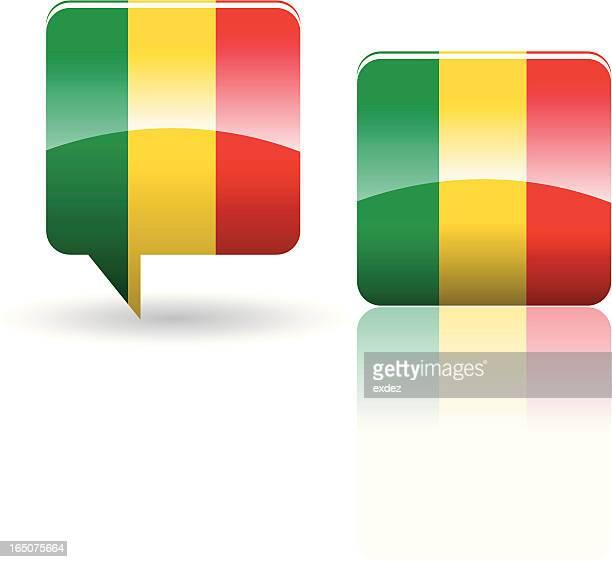 national flag of mali - mali stock illustrations, clip art, cartoons, & icons