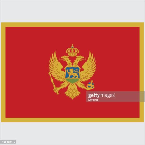 national flag of montenegro - montenegro stock illustrations, clip art, cartoons, & icons