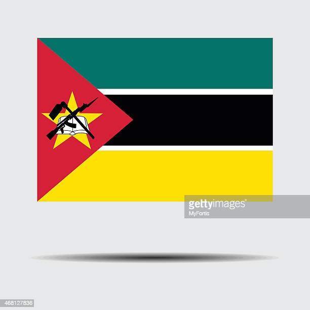 national flag of mozambique - mozambique stock illustrations, clip art, cartoons, & icons