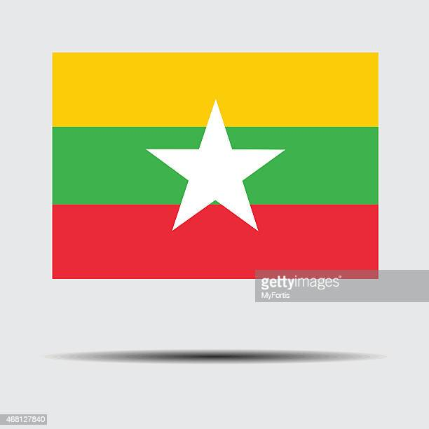 national flag of myanmar - territorial animal stock illustrations, clip art, cartoons, & icons