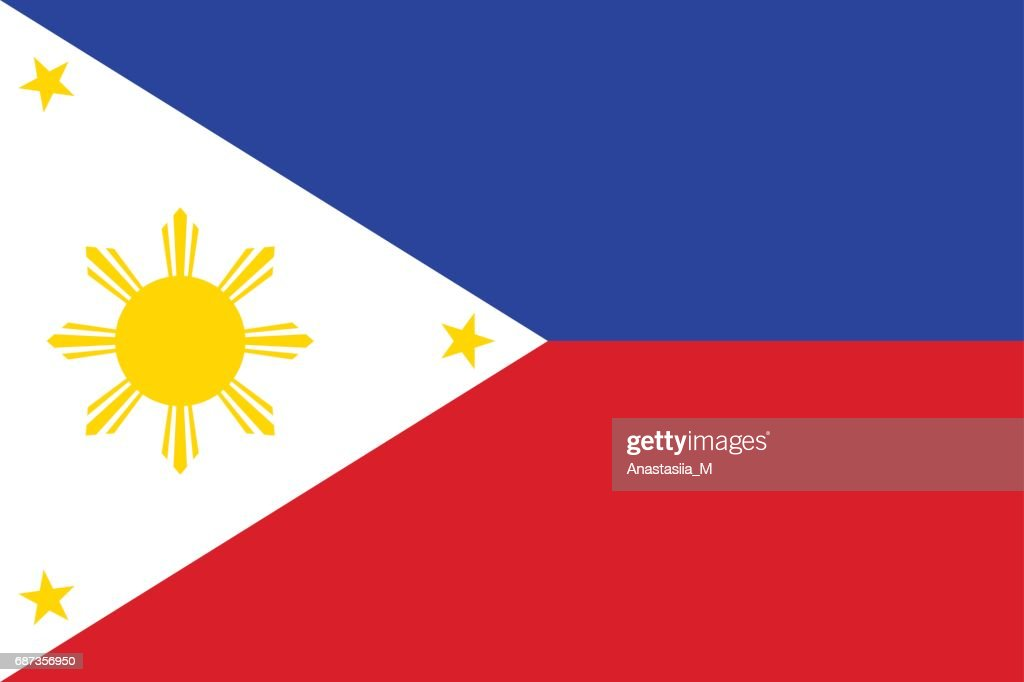 National flag of Philippines Republic.