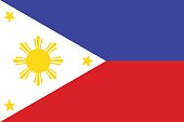 National Flag of Philippines. Vector illustration.