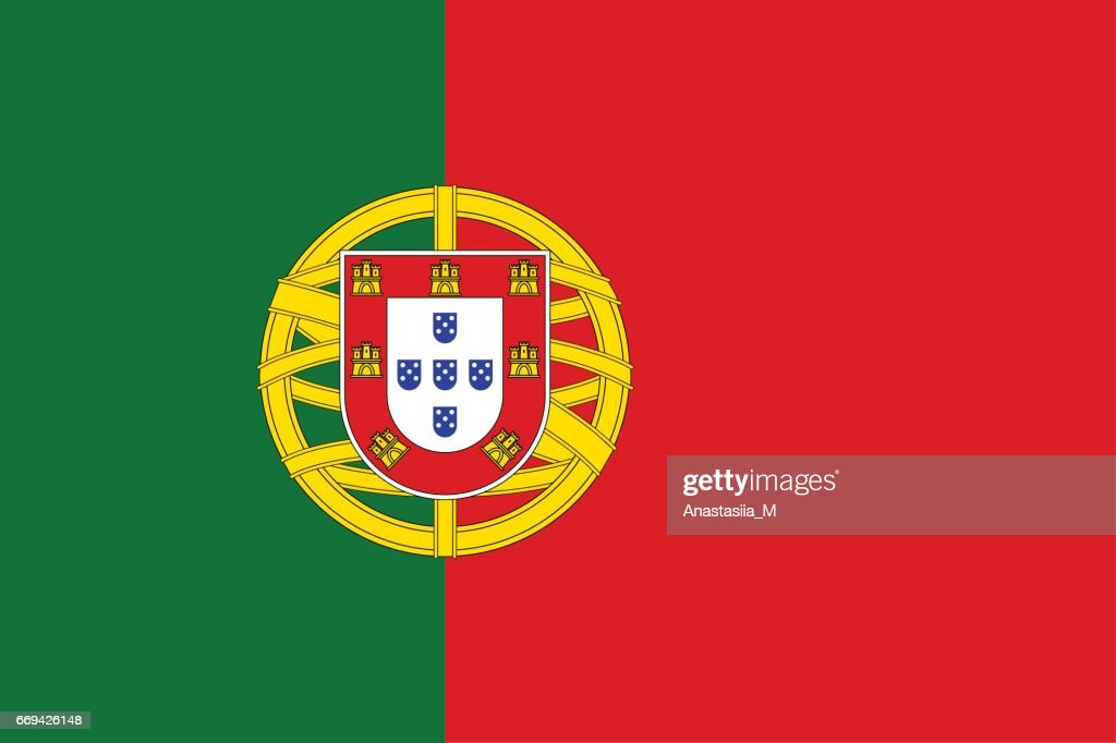 National flag of Portugal country.