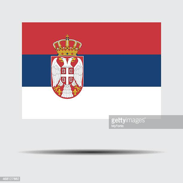 national flag of serbia - country geographic area stock illustrations, clip art, cartoons, & icons