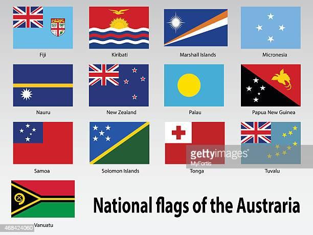 National flag of the Australia