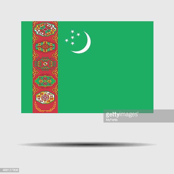 national flag of turkmenistan - country geographic area stock illustrations, clip art, cartoons, & icons