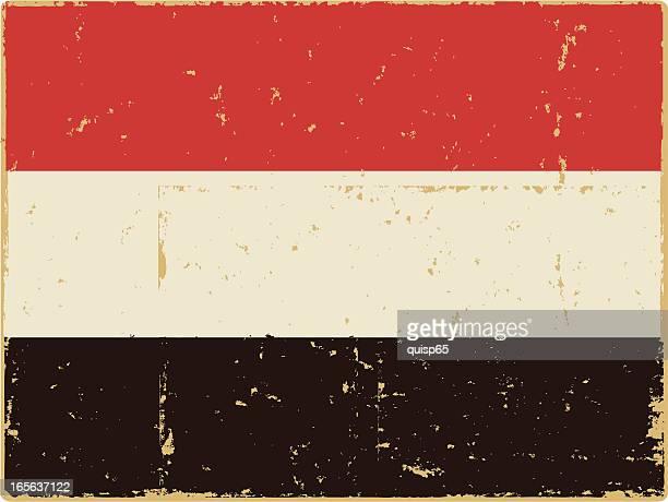 national flag of yemen - yemen stock illustrations, clip art, cartoons, & icons