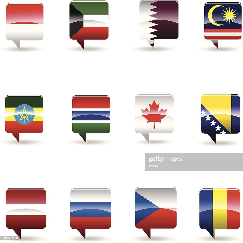 National flag set : stock illustration
