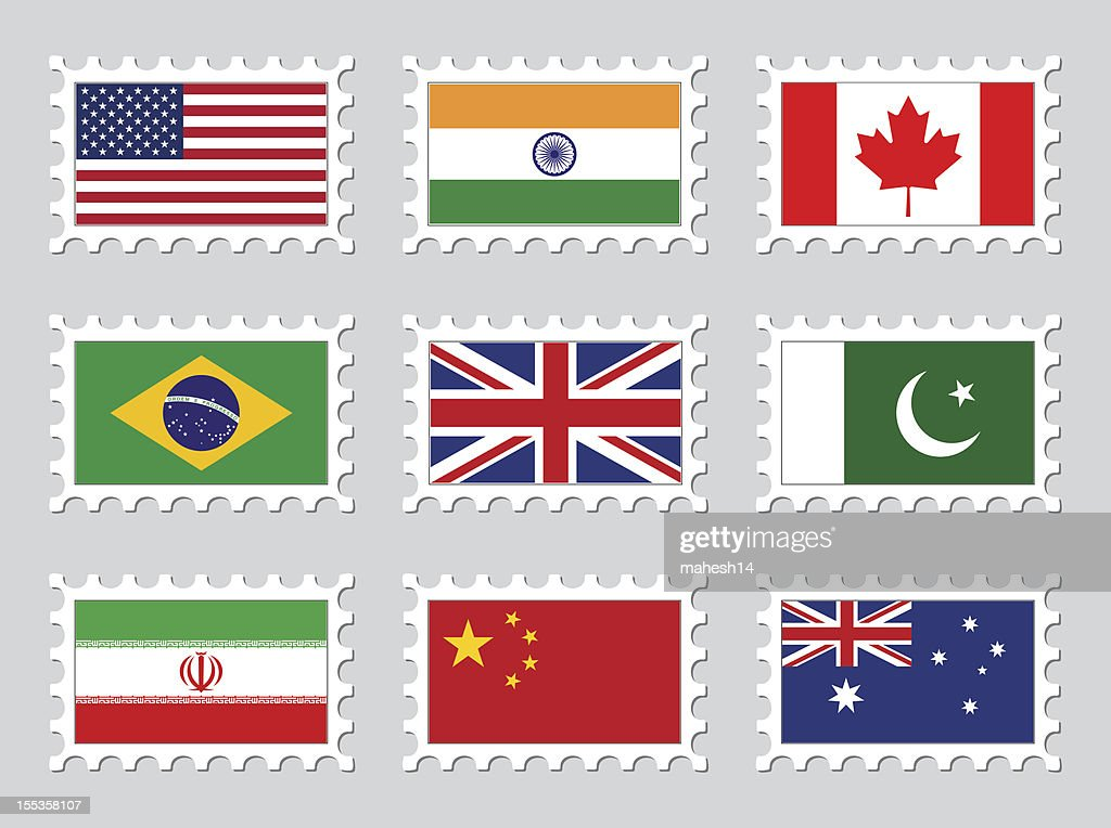National Flag Stamps