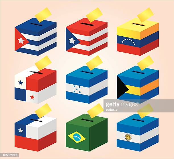 national flag voting box - president stock illustrations, clip art, cartoons, & icons