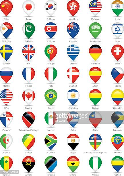 national flags icons