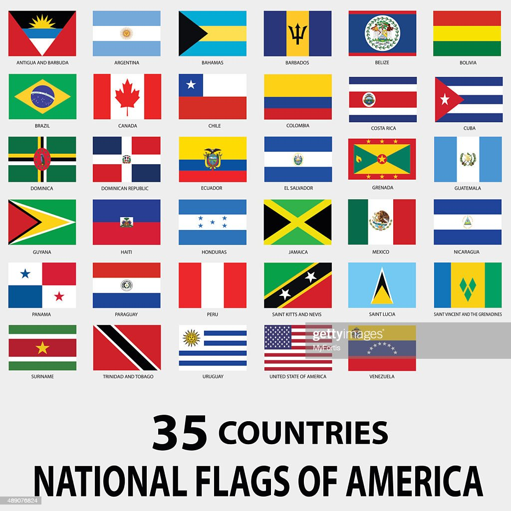 National Flags of America