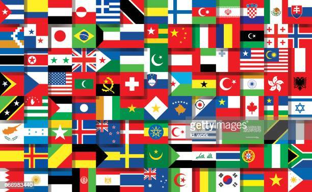 national flags - national flag stock illustrations