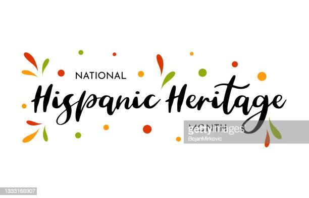 illustrazioni stock, clip art, cartoni animati e icone di tendenza di carta del mese nazionale del patrimonio ispanico, poster, sfondo. vettore - arti e mestieri