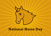 National Horse Day vector