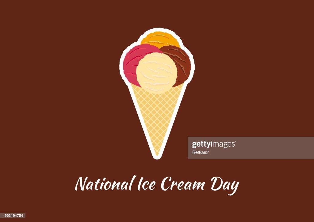 National Ice Cream Day vector
