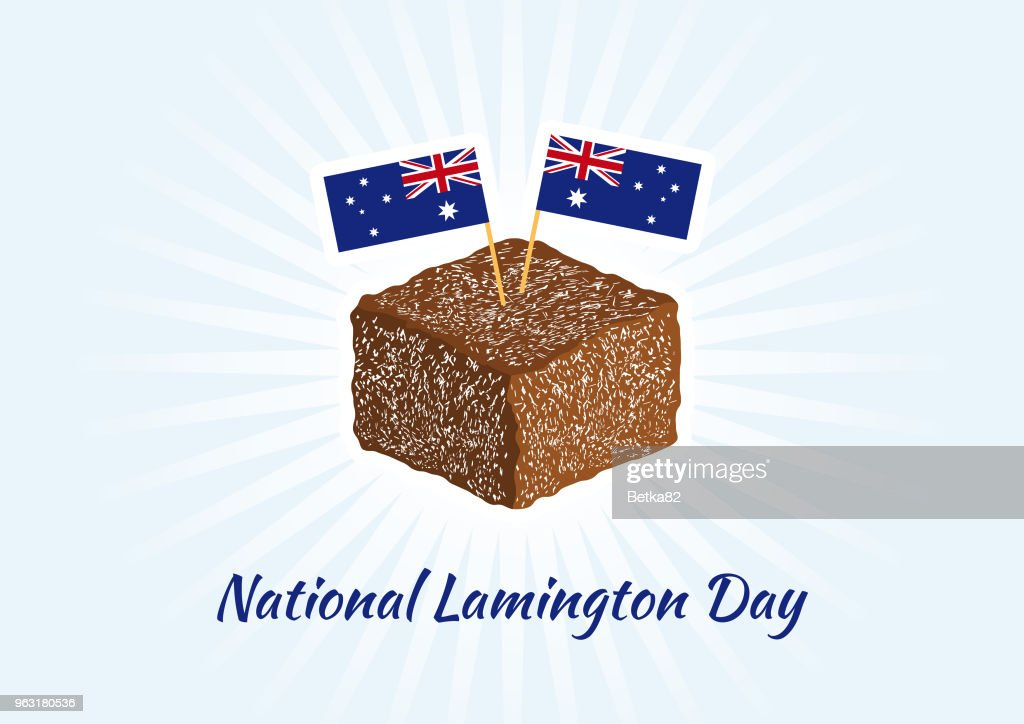 National Lamington Day vector
