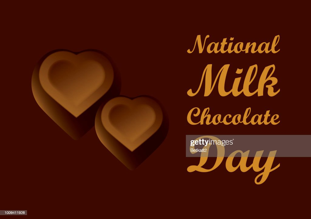 National Milk Chocolate Day vector