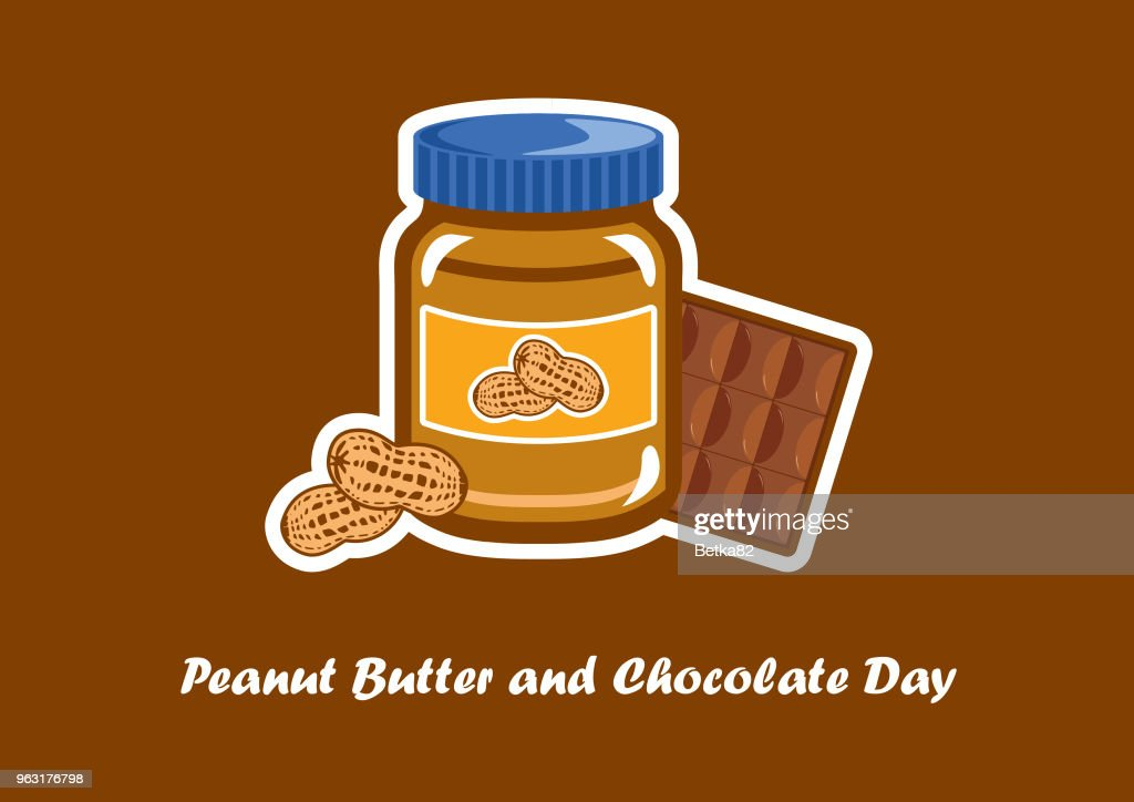 National Peanut Butter and Chocolate Day vector