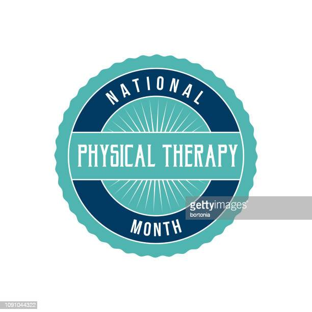 national physical therapy month - month stock illustrations