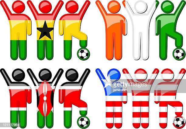 national soccer team icons - ghana stock illustrations, clip art, cartoons, & icons